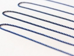 1 m marineblaue Kugelkette - 1,5 mm