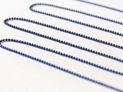 1m chaine bille bleu marine 1,5 mm
