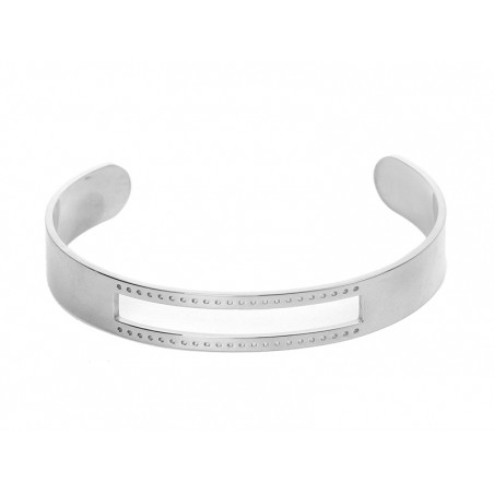 Acheter Bracelet manchette argentée percée pour tissage de perles miyuki - 6,90€ en ligne sur La Petite Epicerie - Loisirs c...