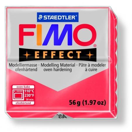 Fimo Effect - translucent colour red no. 204