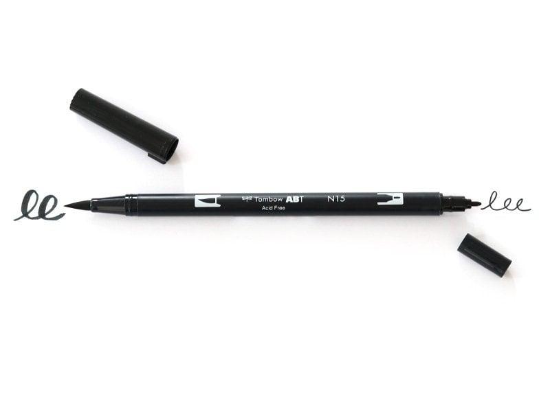 Acheter Feutre double pointe Tombow ABT - noir N15 - 3,90€ en ligne sur La Petite Epicerie - 100% Loisirs créatifs