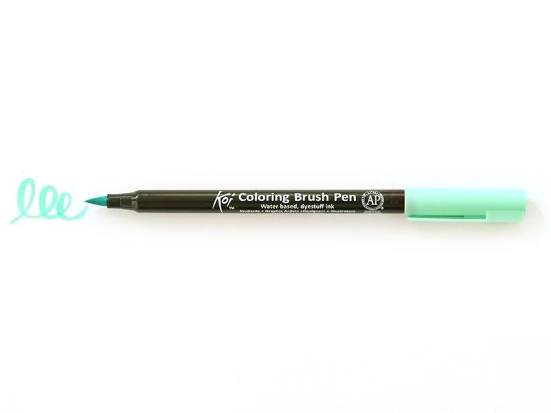 Acheter Feutre pinceau Koi - vert paon - 2,99€ en ligne sur La Petite Epicerie - 100% Loisirs créatifs