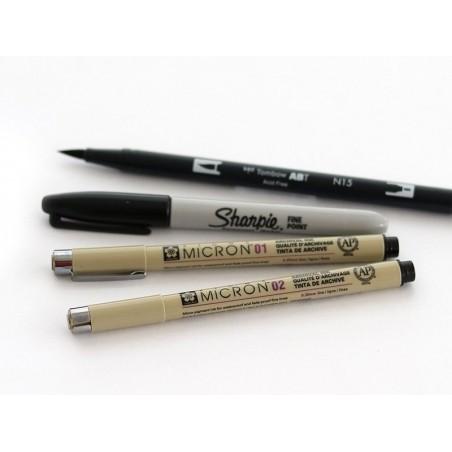 lots de 3 stylos micron Sigma - tailles 02, 04, 08