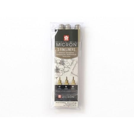 Acheter lots de 3 stylos micron Sigma - tailles 02, 04, 08 - 9,90€ en ligne sur La Petite Epicerie - Loisirs créatifs