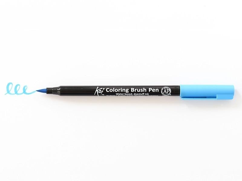 Acheter Feutre pinceau Koi - bleu ciel - 2,99€ en ligne sur La Petite Epicerie - Loisirs créatifs