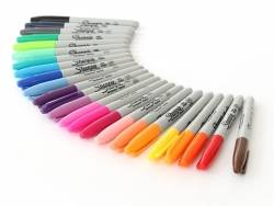 Lot de 24 marqueurs Sharpie - pointe fine