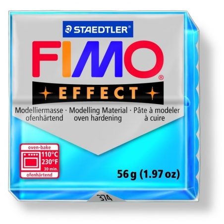 Pâte Fimo EFFECT Translucide Bleu 374 Fimo - 5