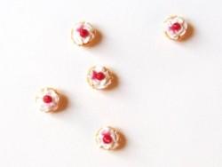 1 tarte / cupcake miniature - cerise