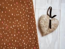 Acheter Tissu motif gouttes «pluie d'or» - camel - 1,50€ en ligne sur La Petite Epicerie - 100% Loisirs créatifs