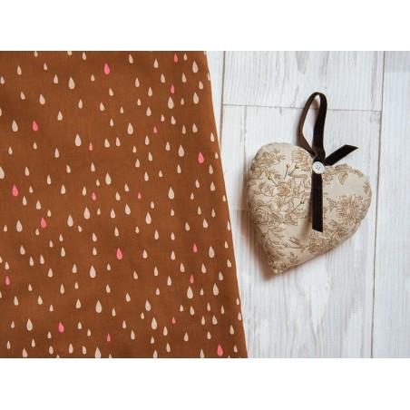 Tissu motif gouttes «pluie d'or» - camel Motif Personnel - 2