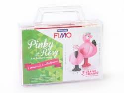 Kit Fimo - Mallette Pinky & Rosy les flamants roses - figurines à modeler