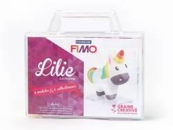 Kit Fimo - Malette Lilie la licorne - figurine à modeler Fimo - 1