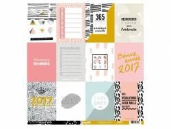 Papier de scrap imprimé - calendrier 2017