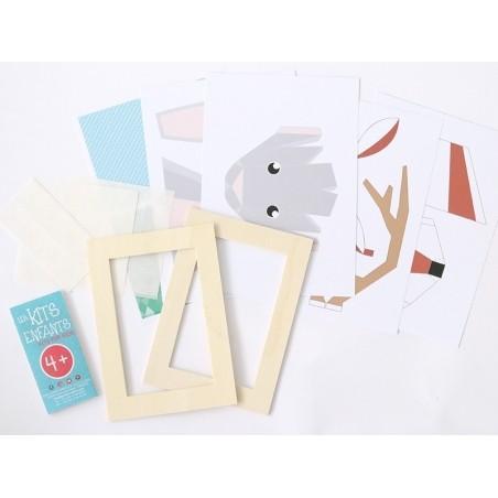 Acheter Kit trophées en papier lapin et cerf - 9,99€ en ligne sur La Petite Epicerie - 100% Loisirs créatifs