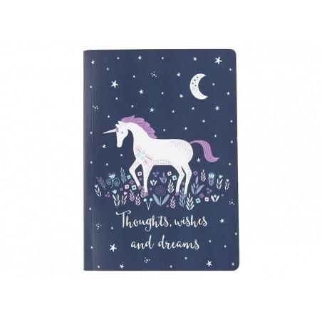 """Carnet A5 - Licorne """"pensées, souhaits et rêves"""" Sass&Belle - 1"""