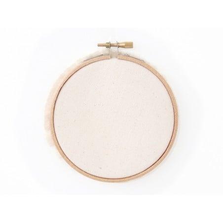 Pack petit tambour à broder et tissu canvas Kesi art - 1