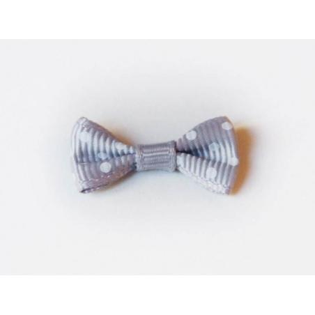 Acheter Noeud gris souris à pois - 3 cm - 0,39€ en ligne sur La Petite Epicerie - 100% Loisirs créatifs