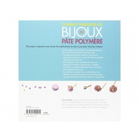Livre Comment fabriquer ses bijoux en pâte polymère - Jessica Sharpe Marabout - 2