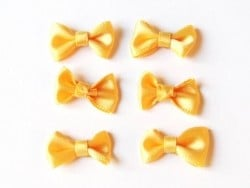 Noeud jaune bouton d'or - 3 cm