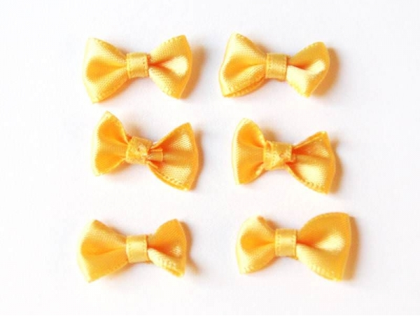 Buttercup yellow bow - 3 cm