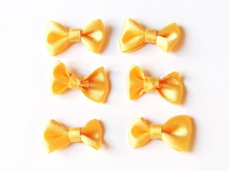 Noeud jaune bouton d'or - 3 cm  - 1