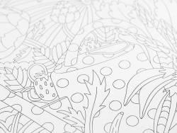 Poster géant à colorier - carré potager Marabout - 2