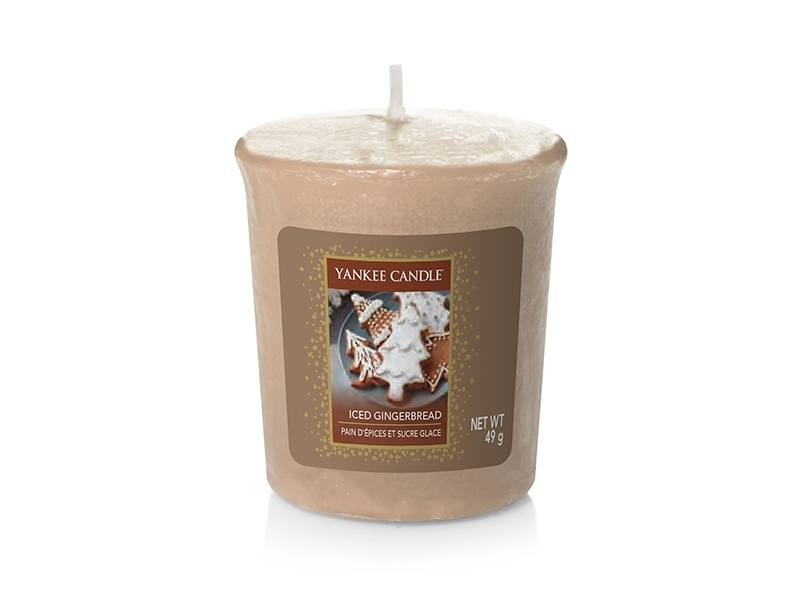 Bougie Yankee Candle -  Iced Gingerbread / Pain d'épices et sucre glace - Bougie votive Yankee Candle - 1