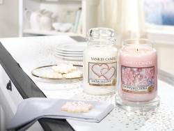 Bougie Yankee Candle - Snowflake cookie / Flocon sucré - Petite jarre