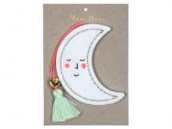 Décoration sapin de Noël Lune en feutre