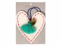Décoration de sapin de Noël -coeur en feutre Meri Meri - 1