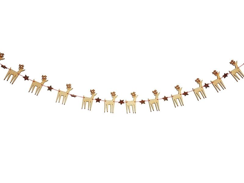 Acheter Guirlande DIY - petits rennes et étoiles à paillettes - 15,99€ en ligne sur La Petite Epicerie - 100% Loisirs créatifs