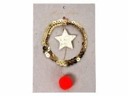 Décoration de sapin de Noël - étoile et sequins Meri Meri - 1