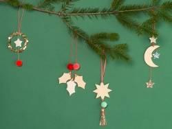 Décoration de sapin de Noël - étoile et sequins