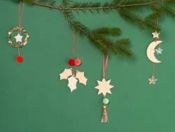 Décoration de sapin de Noël - renne en bois