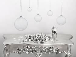 Boule en verre avec ouverture large - diamètre 10 cm