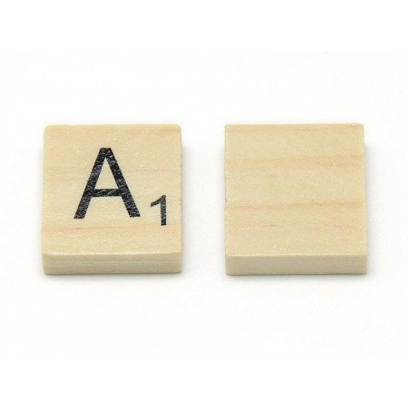 100 lettres en bois - type scrabble  - 3