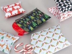 6 pochettes cadeaux forêt en hiver