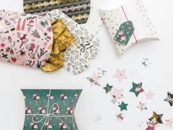 Acheter 6 pochettes cadeaux en forme de berlingot - Noël pop - 3,49€ en ligne sur La Petite Epicerie - 100% Loisirs créatifs