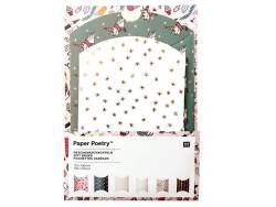 6 pochettes cadeaux en forme de berlingot - Noël botanique