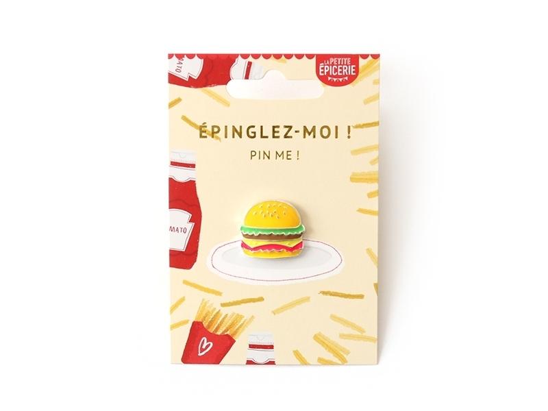 Acheter Broche pin's émaillé hamburger - 4,99€ en ligne sur La Petite Epicerie - Loisirs créatifs