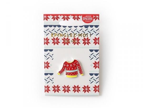 Acheter Broche pin's émaillé pull de Noël - 4,99€ en ligne sur La Petite Epicerie - 100% Loisirs créatifs