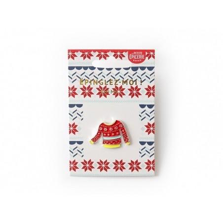 Acheter Broche pin's émaillé pull de Noël - 4,99€ en ligne sur La Petite Epicerie - Loisirs créatifs
