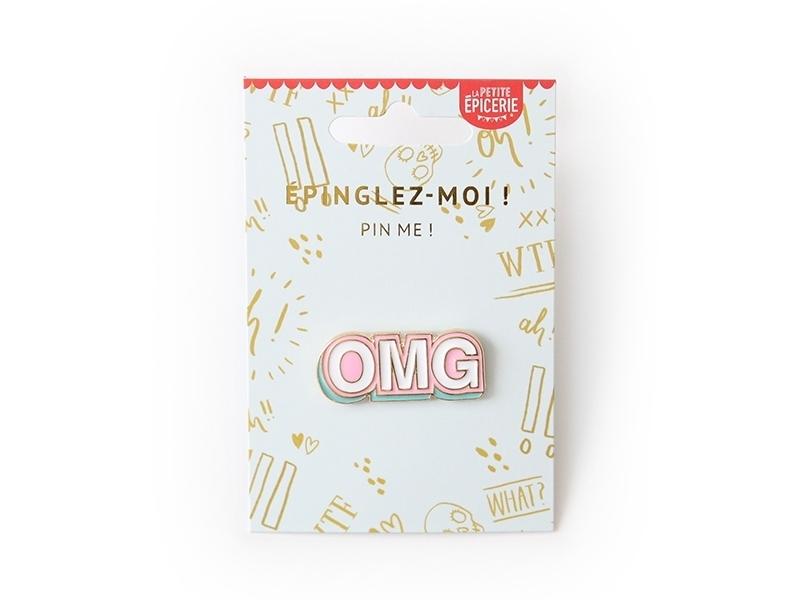 """Acheter Broche pin's émaillé """"Oh my god"""" OMG - 4,99€ en ligne sur La Petite Epicerie - 100% Loisirs créatifs"""