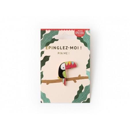 Acheter Broche pin's émaillé toucan - 4,99€ en ligne sur La Petite Epicerie - Loisirs créatifs