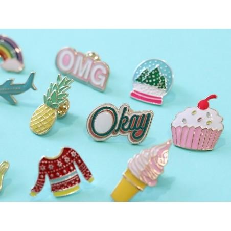 Acheter Broche pin's émaillé Okay - 4,99€ en ligne sur La Petite Epicerie - 100% Loisirs créatifs