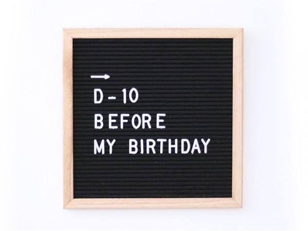 Letter board - cadre avec lettre noir - 30x30 cm  - 1