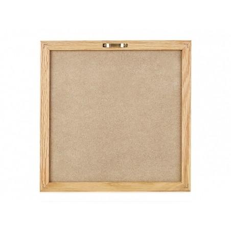 Letter board - cadre avec lettre noir - 30x30 cm  - 3