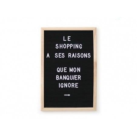 Acheter Letter board - cadre noir avec lettres - 30x45 cm - 33,99€ en ligne sur La Petite Epicerie - Loisirs créatifs