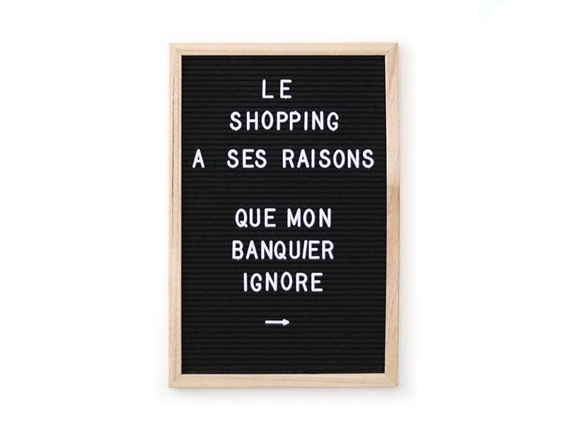 Acheter Letter board - cadre noir avec lettres - 30x45 cm - 33,99€ en ligne sur La Petite Epicerie - 100% Loisirs créatifs