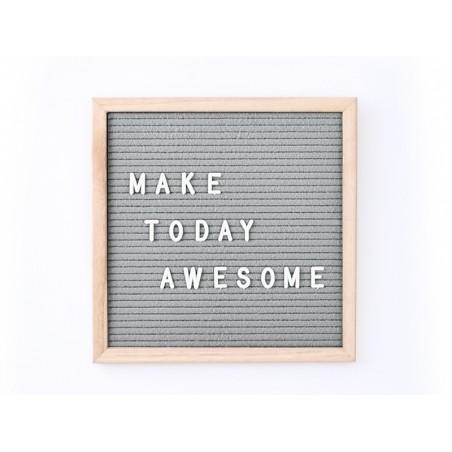 Acheter Letter board - cadre avec lettre gris - 30x30 cm - 26,99€ en ligne sur La Petite Epicerie - Loisirs créatifs